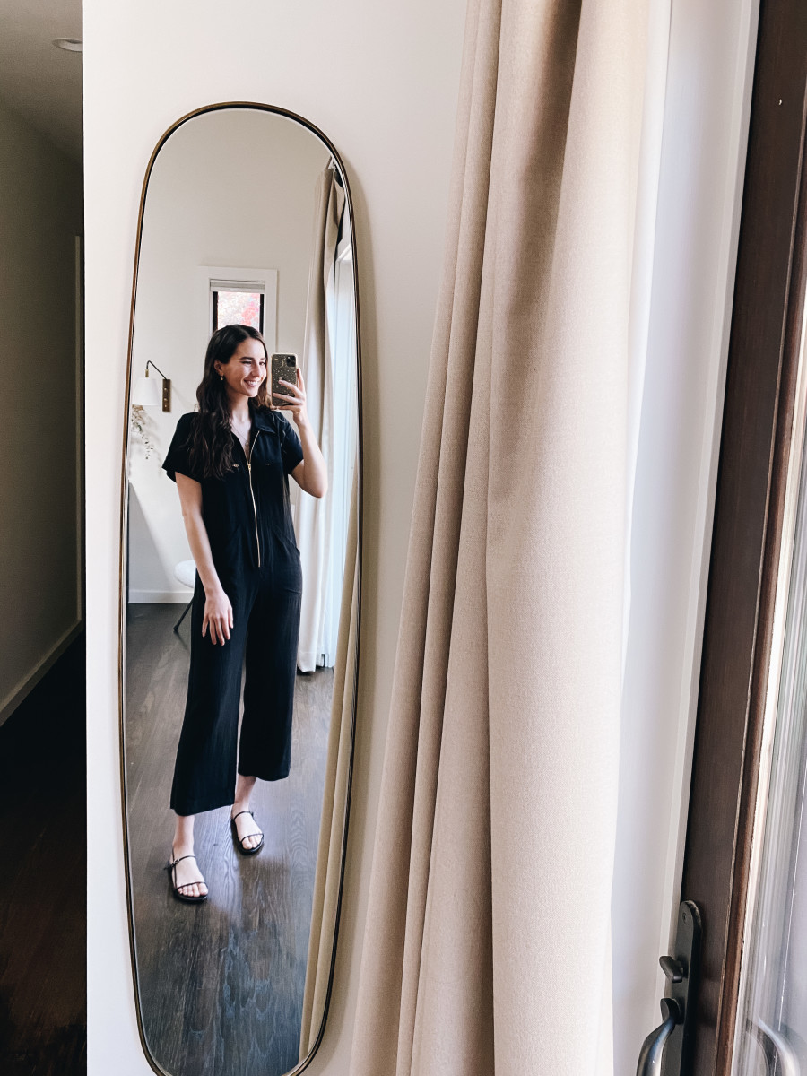 Rachel Pally jumpsuit, Villa Rouge sandals (on sale!)