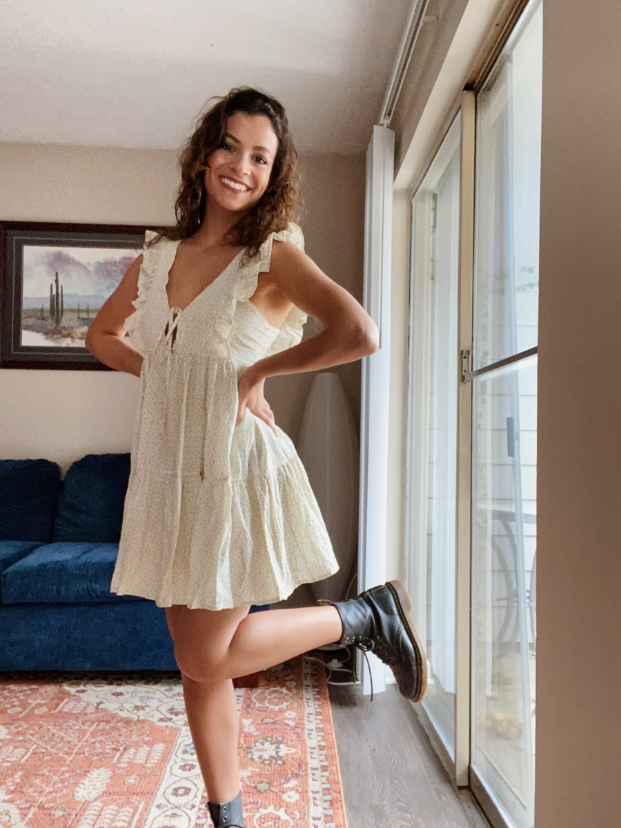 Thursday:Asos Dress,Dr. Martens Boots