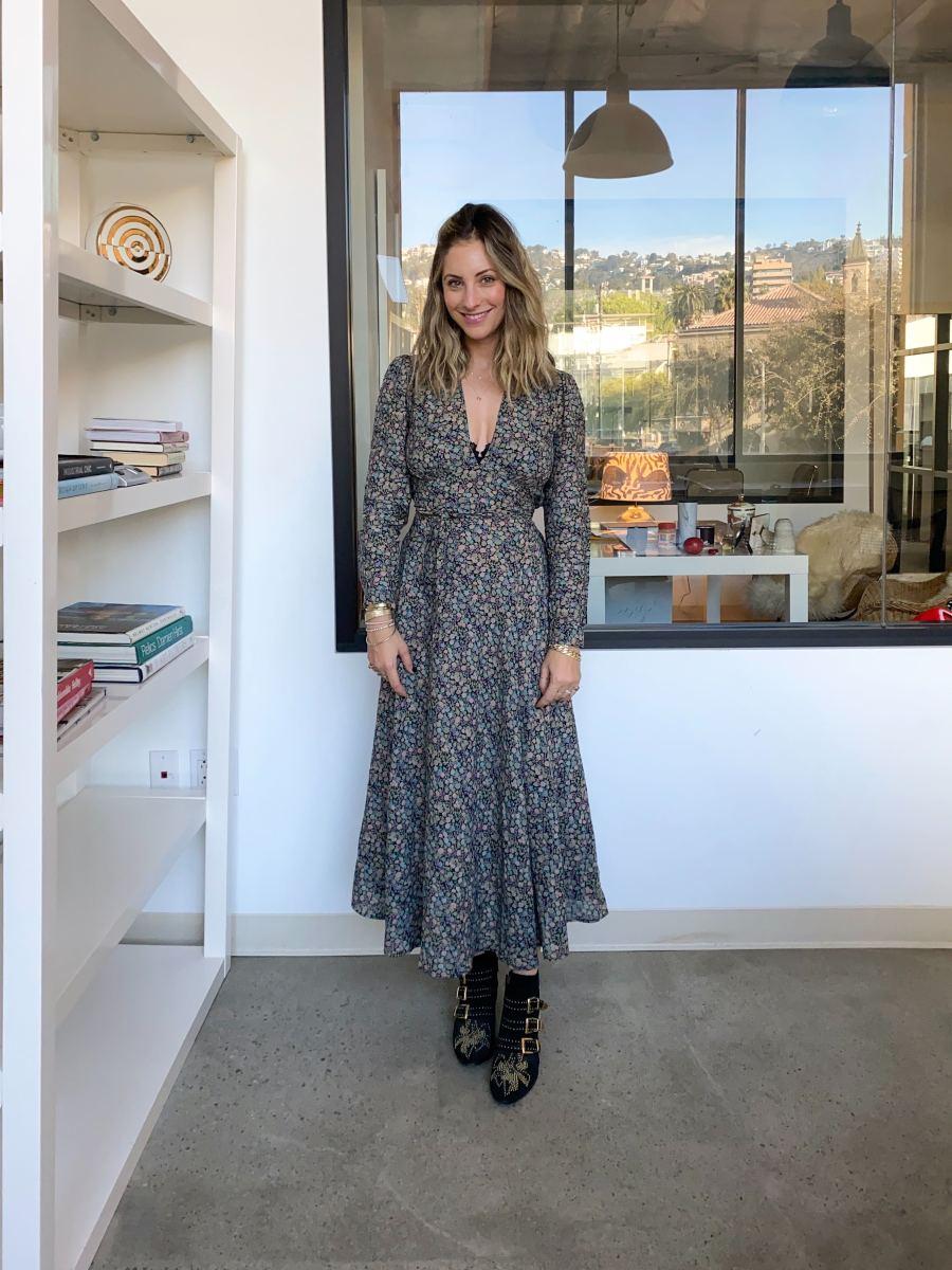Monday: Doen Dress, Josie Natori Bra (similar here),Chloe Boots (similar here)