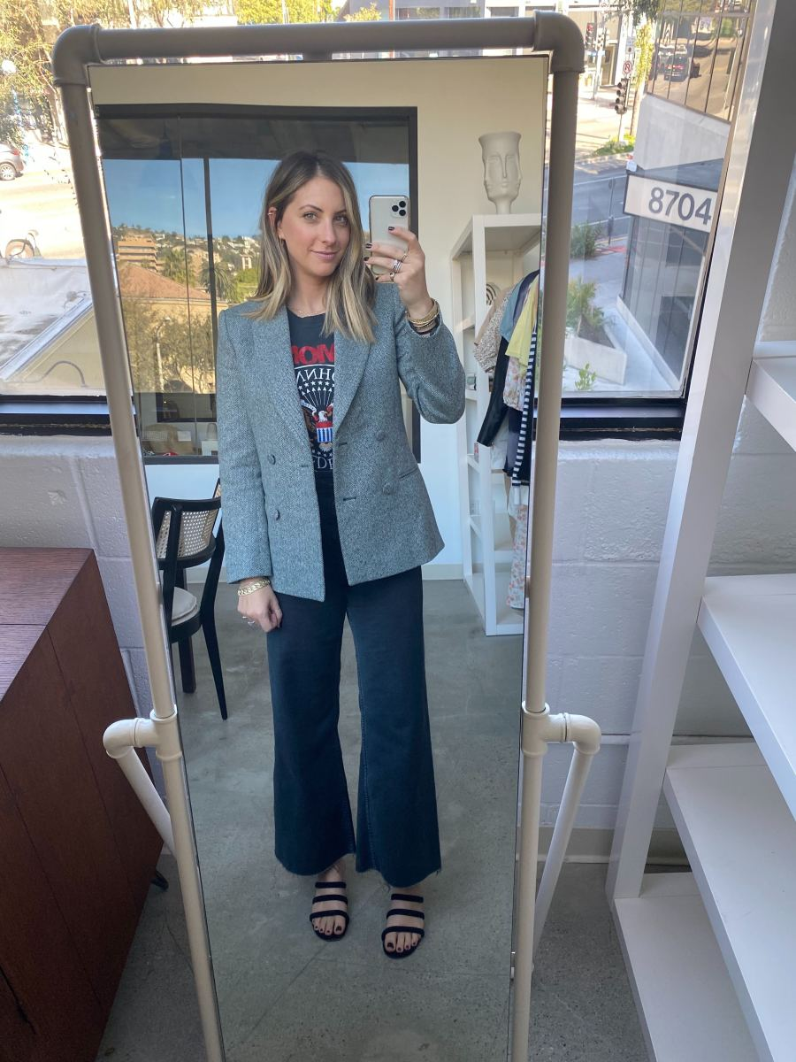Friday: & Other Stories Blazer (similar here), Daydreamer Tee (similar here), Zara Pants, Charlotte Stone Shoes