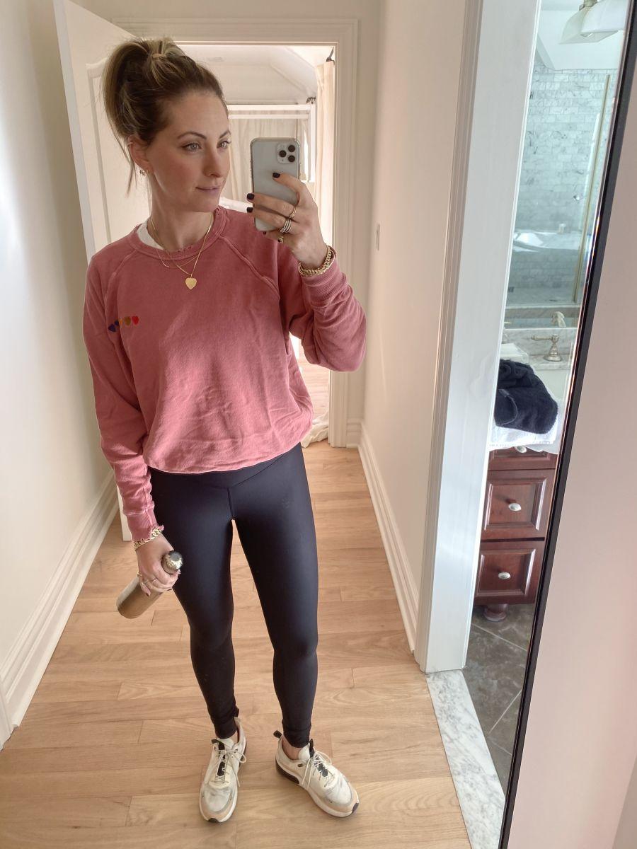 The Great Sweatshirt, Blank Label Active Leggings, Nike Sneakers