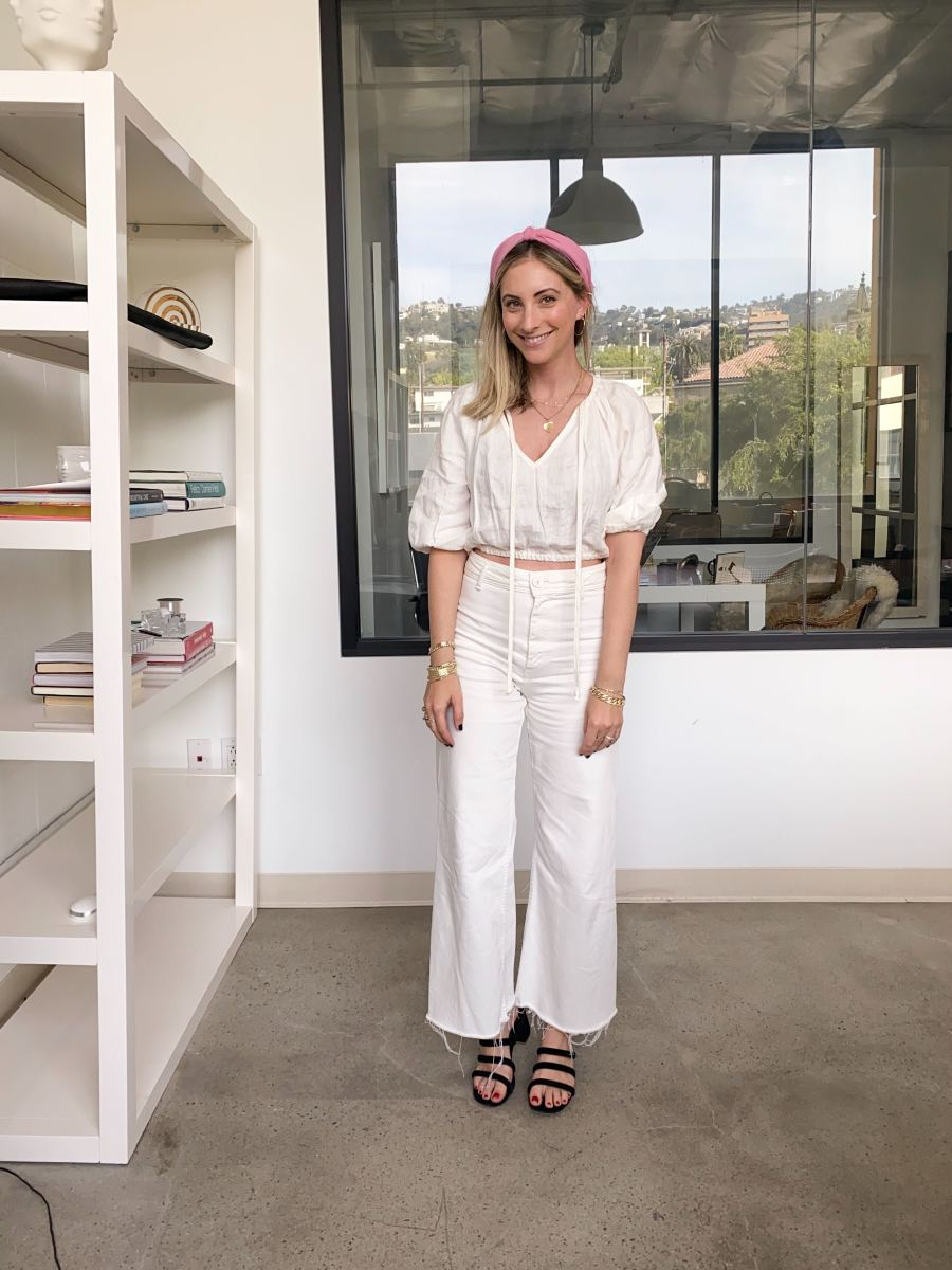 Rachel Pally Top, Zara Pants, Charlotte Stone Sandals