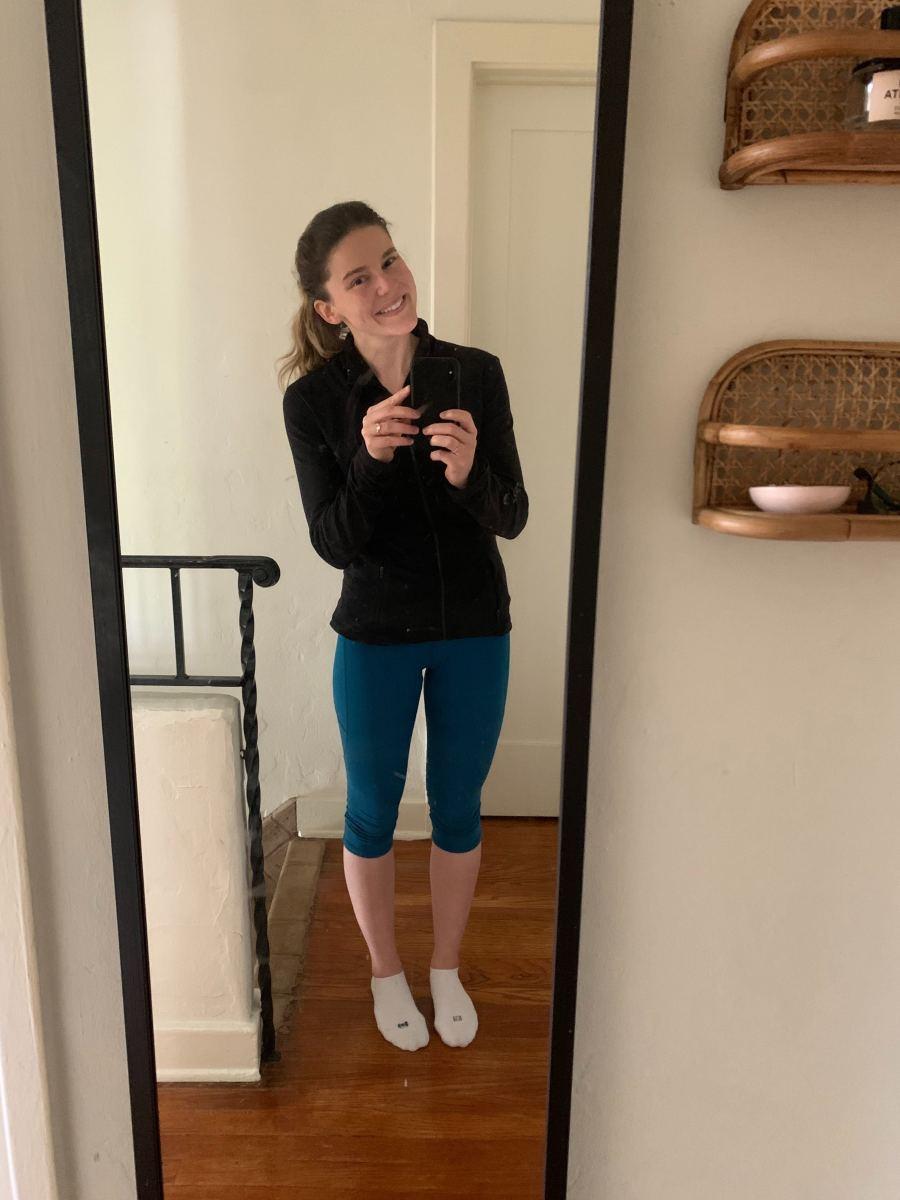 Friday: Lululemon Jacket (similar here), Leggings, KB Socks(aka the only socks that matter!)