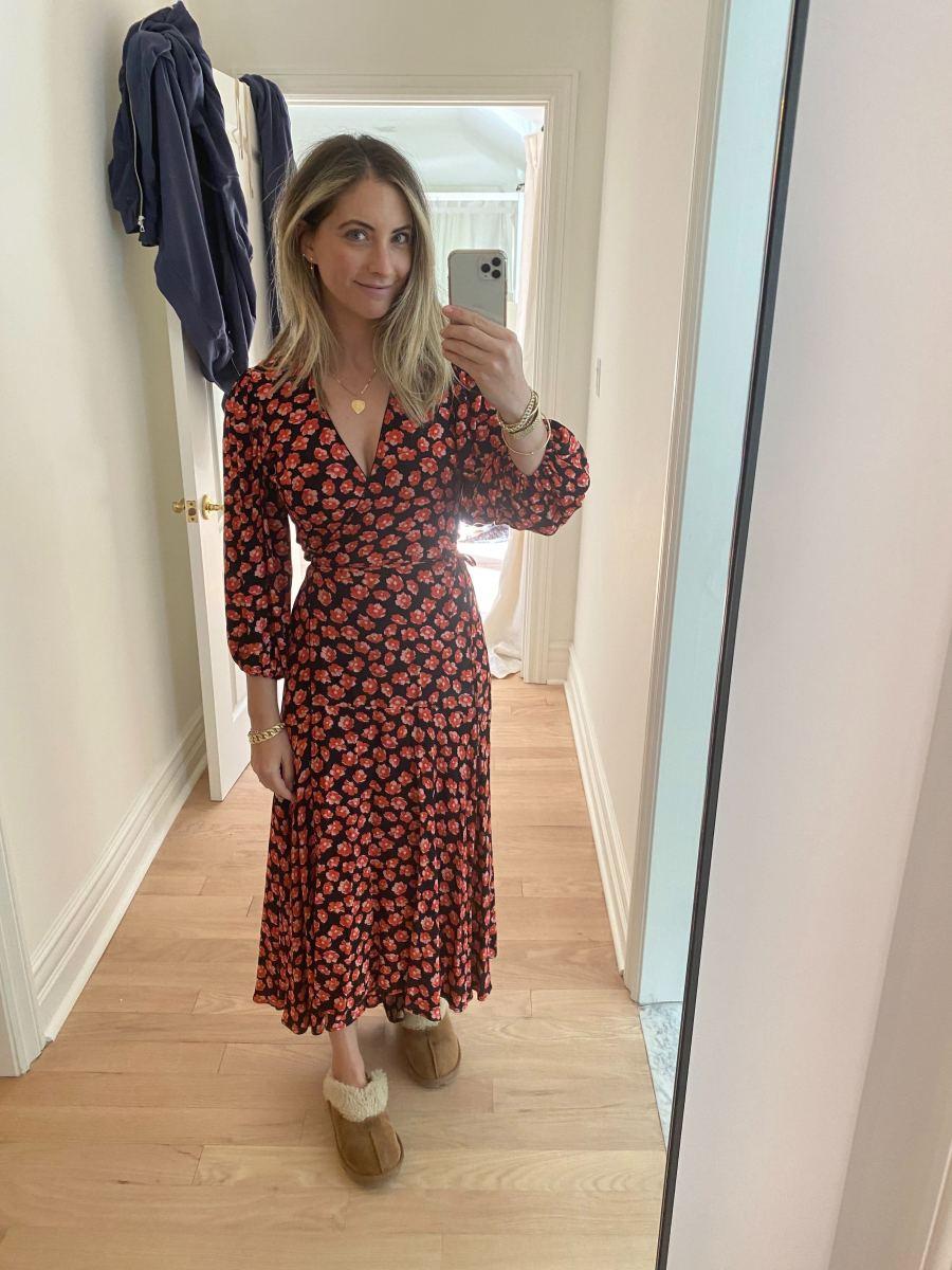 Friday: Ganni Dress (similar here), Ugg Slippers