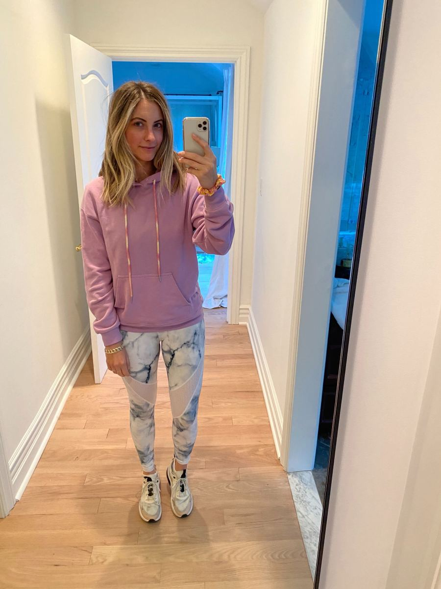 Daydreamer Hoodie, Varley Leggings (similar here), Nike Sneakers (similar here)