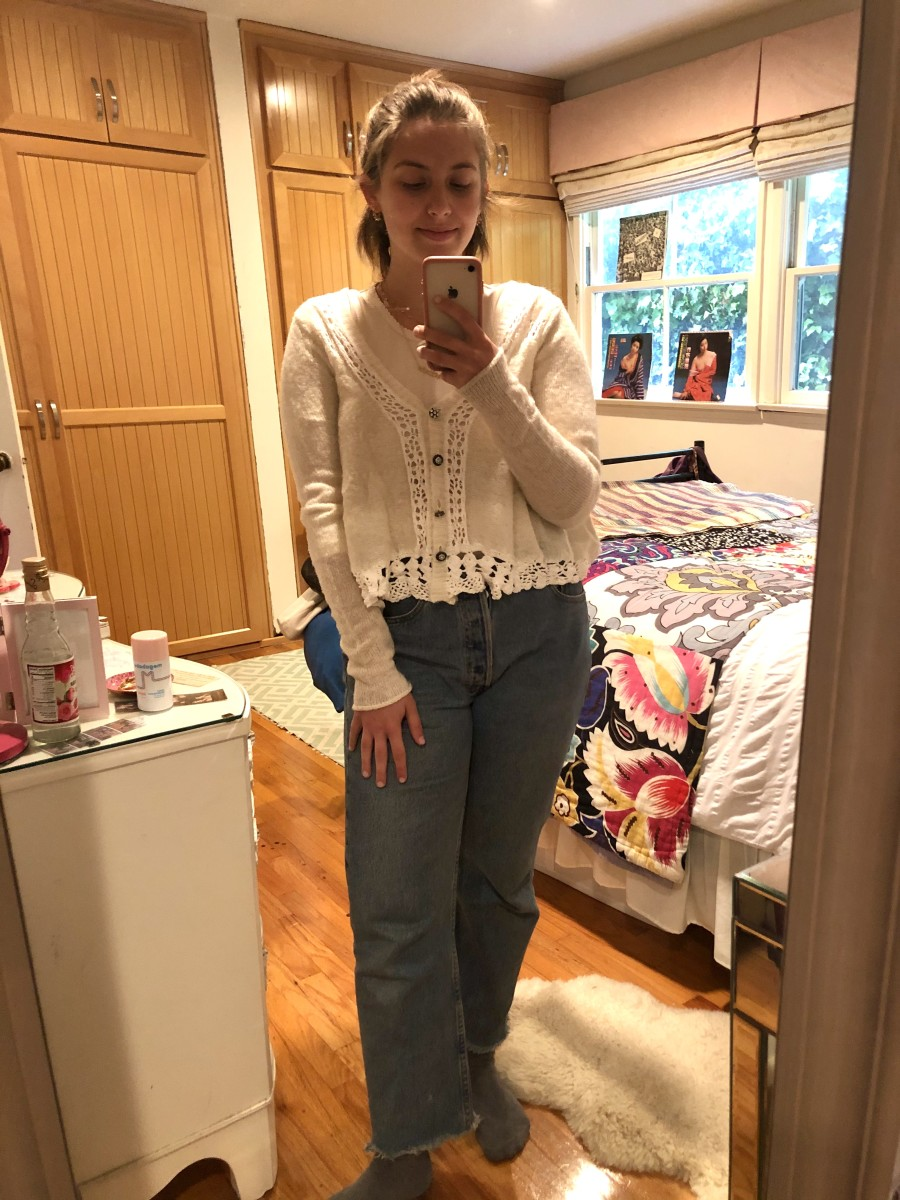 Wednesday: Doen Top, a verrrryyyy old Free People Sweater (similar here), Vintage Levi's (similar here)