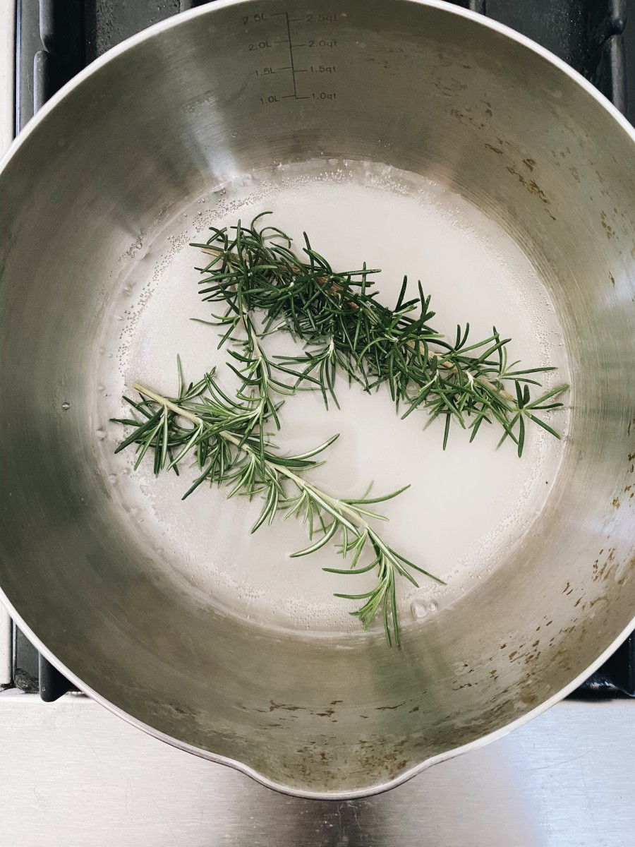Jess' rosemary simple syrup!