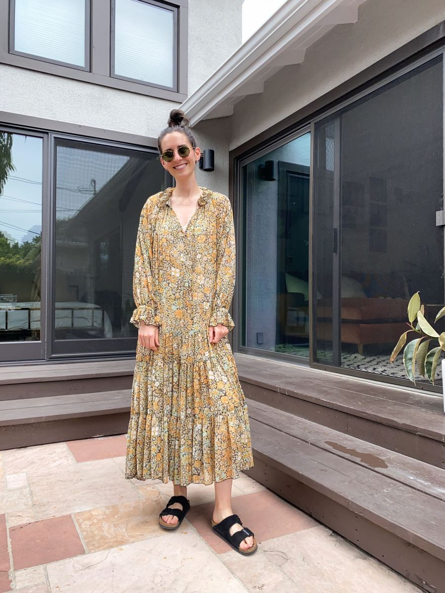 Friday (Jess, Social Media Manager): Free People Dress (similar here), Birkenstock Slides, Garrett Leight Sunglasses