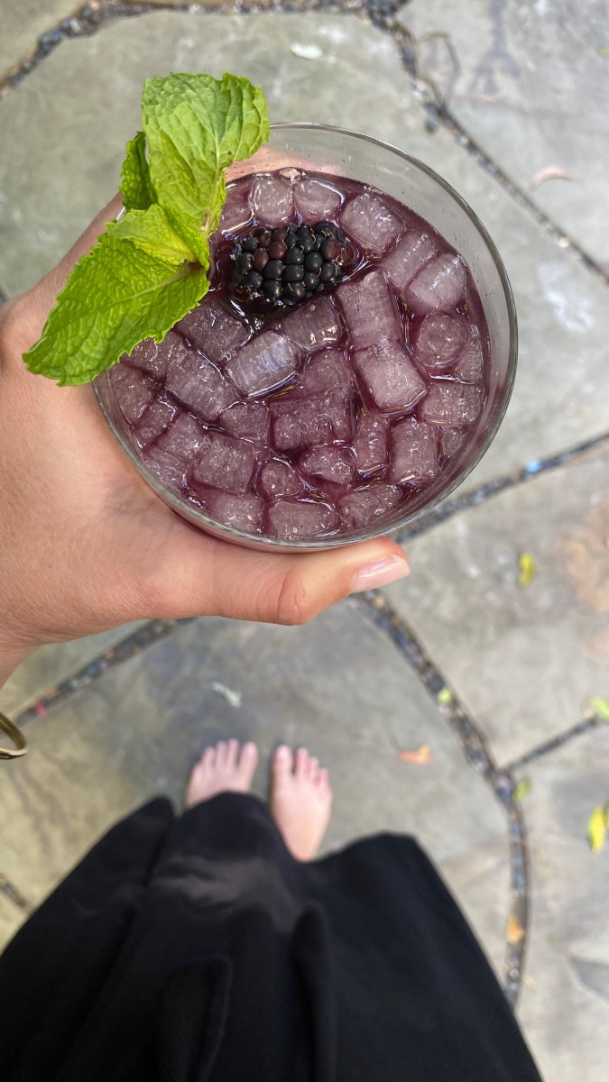 Blackberry-mint mojito, courtesy of G