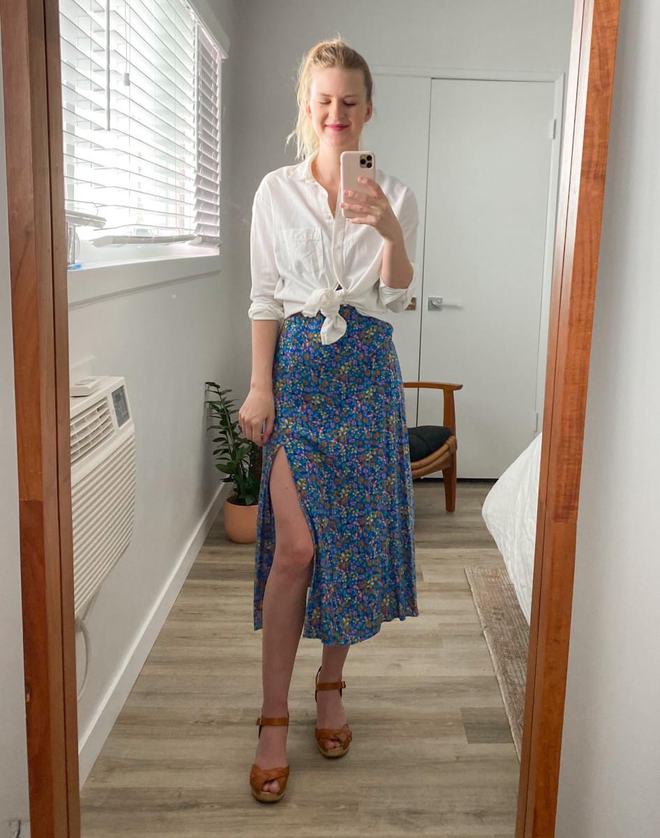 Zara Dress (similar here), Swedish Hasbeens Shoes, Madewell Oxford