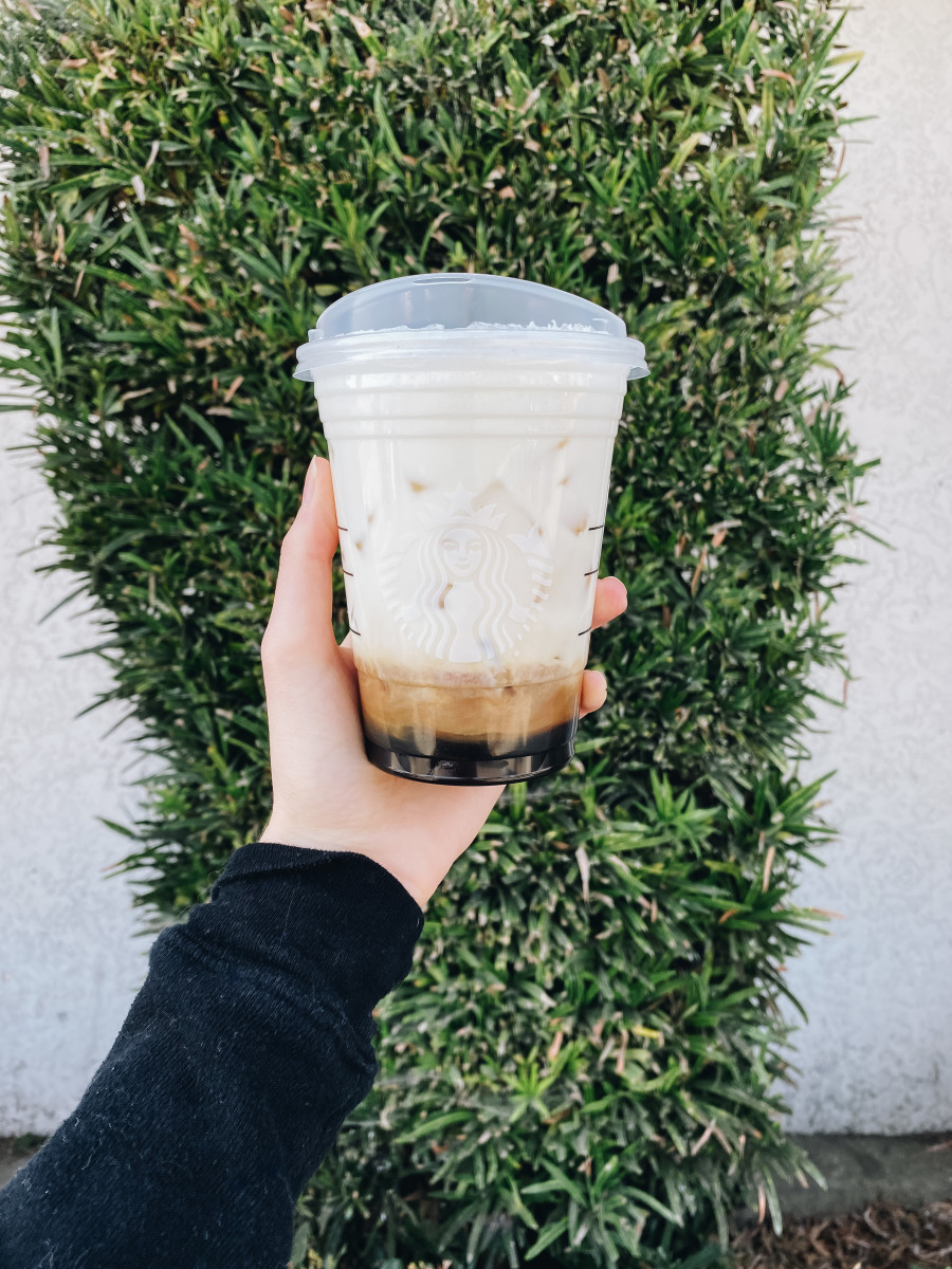 This drink was actually recommended by one of our jewelry models, Nazy, and then a friend recommended that I add the pump of peppermint – it's now my go-to drink.