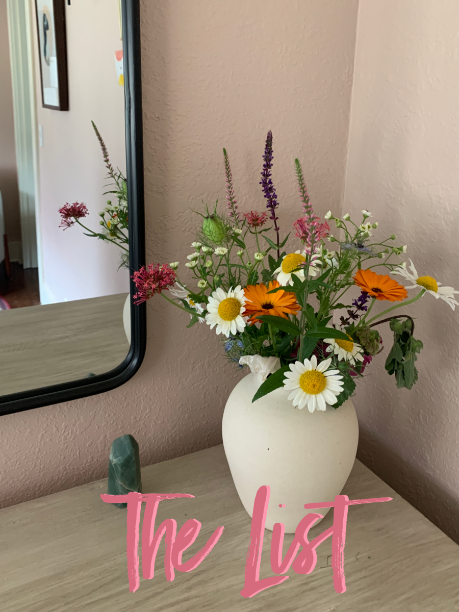 August Sage Vase, flowers from Sunblossom Farms