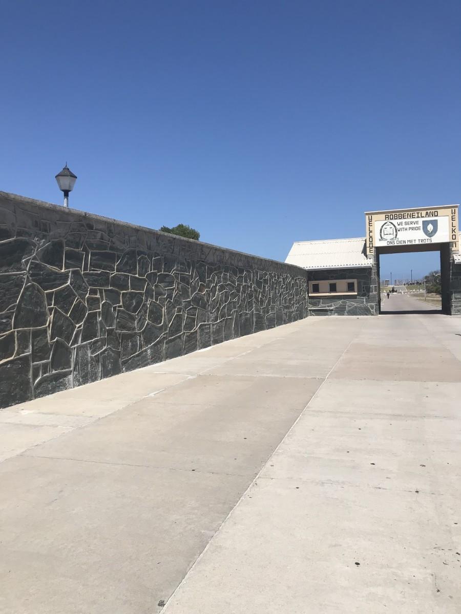 Robben Island, where Mandela was imprisoned, north of Cape Town