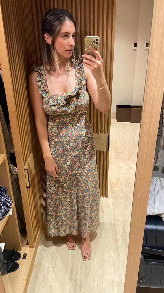 Doen Dress (similar here), By Far Sandals