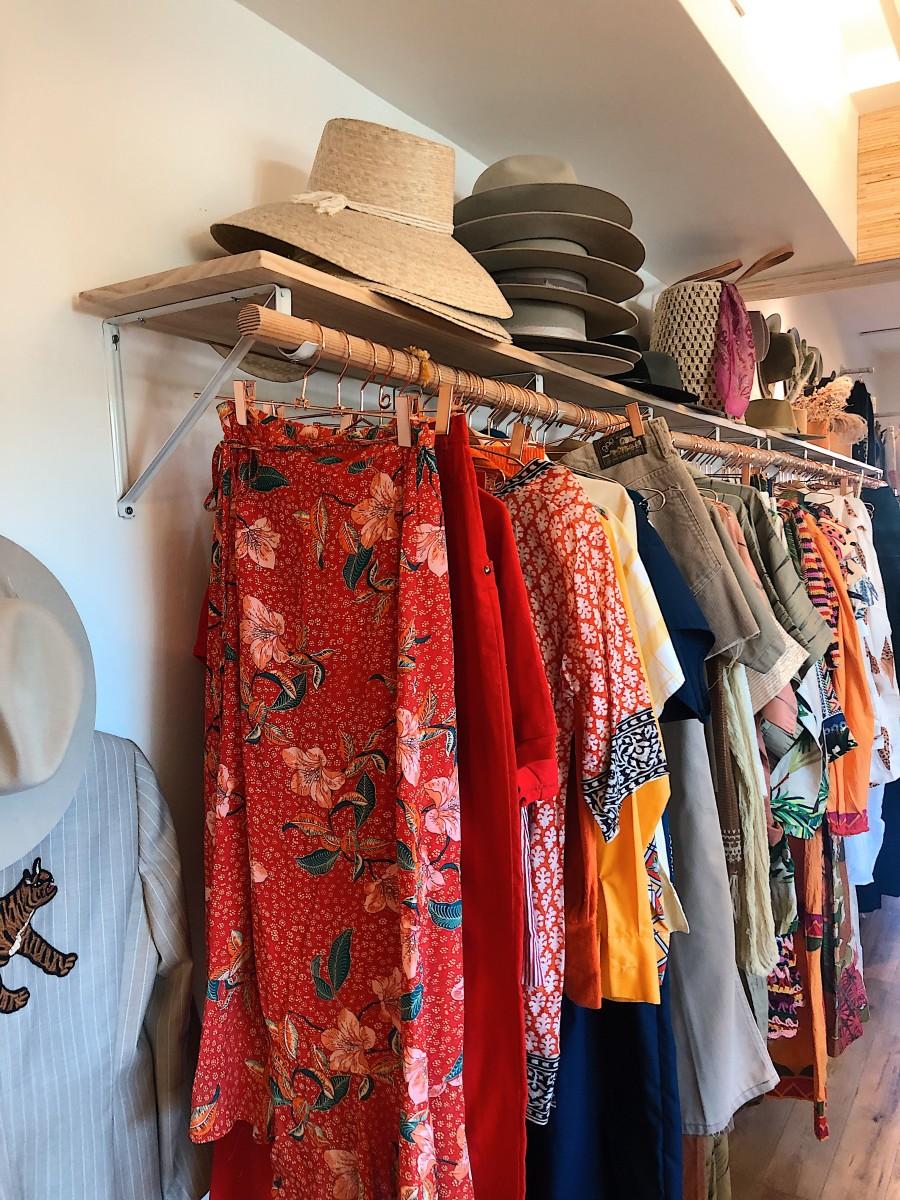 A peek at Canyon Supply's vintage rack.