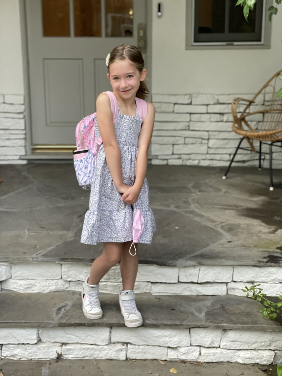 Sloan on her first day in 1st grade