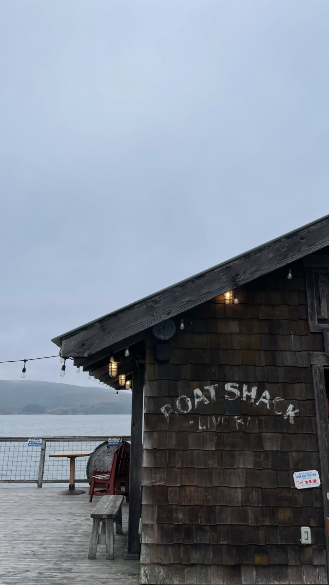 {The boat shack at the end of the dock}